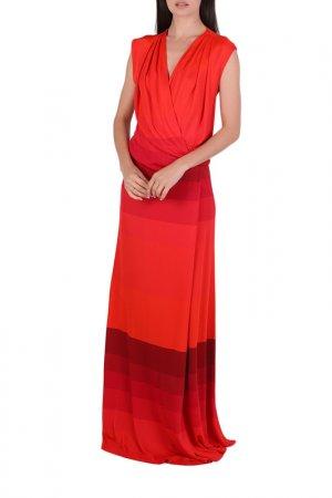 Платье Chapurin. Цвет: бордовый, красный, полоска
