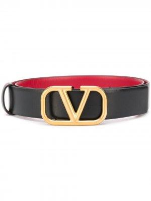 Двухсторонний ремень с логотипом VLogo Valentino Garavani. Цвет: черный