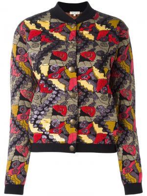 Вышитая куртка-бомбер Etro. Цвет: чёрный