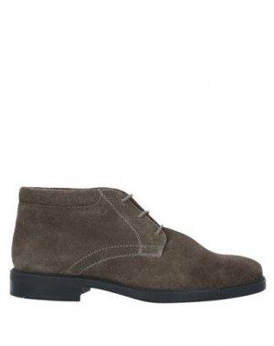 Полусапоги и высокие ботинки GEOX. Цвет: темно-коричневый