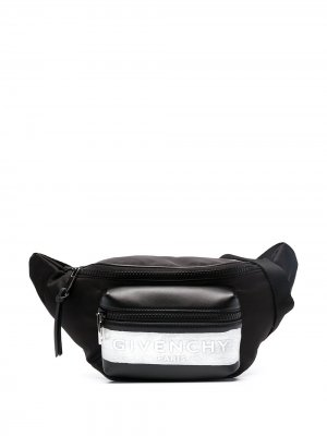 Поясная сумка с логотипом Givenchy. Цвет: черный