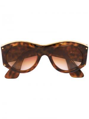Солнцезащитные очки в овальной оправе Christian Lacroix Pre-Owned. Цвет: коричневый