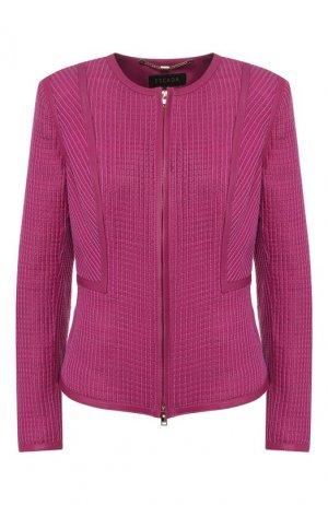 Кожаная куртка Escada. Цвет: розовый