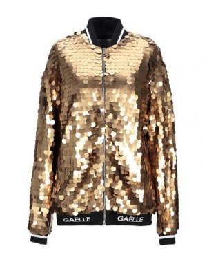 Куртка GAëLLE Paris. Цвет: золотистый