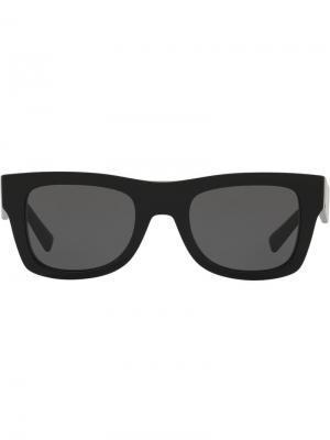 Солнцезащитные очки в квадратной оправе Valentino Eyewear. Цвет: черный