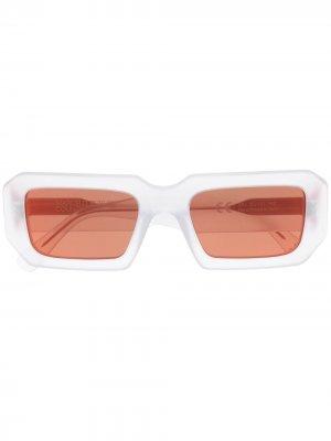 Солнцезащитные очки в квадратной оправе Marcelo Burlon County of Milan. Цвет: белый