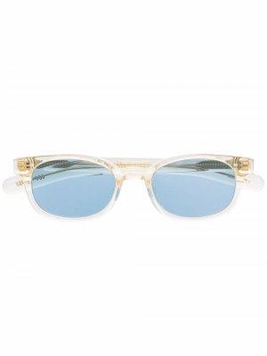 Солнцезащитные очки в круглой оправе FLATLIST. Цвет: желтый