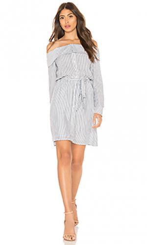 Платье-рубашка sienna Bardot. Цвет: синий