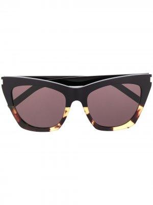 Солнцезащитные очки New Wave SL214 Kate Saint Laurent Eyewear. Цвет: черный