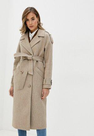 Пальто Elegant Life. Цвет: бежевый