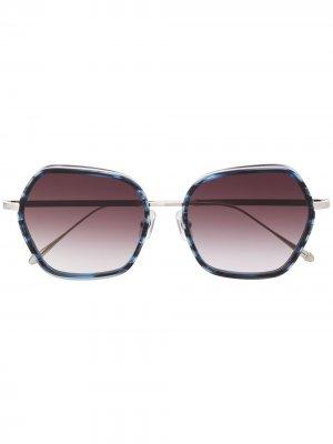 Солнцезащитные очки M3078 в массивной оправе Matsuda. Цвет: синий