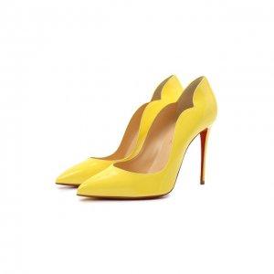 Кожаные туфли Hot Chick 100 Christian Louboutin. Цвет: жёлтый