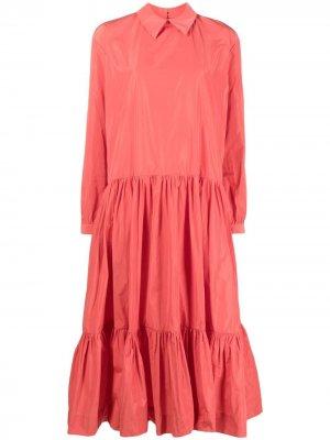 Ярусное платье Kleid Antonio Marras. Цвет: красный