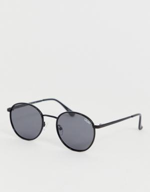 Черные круглые солнцезащитные очки с поляризованными линзами Omen-Черный Quay Australia