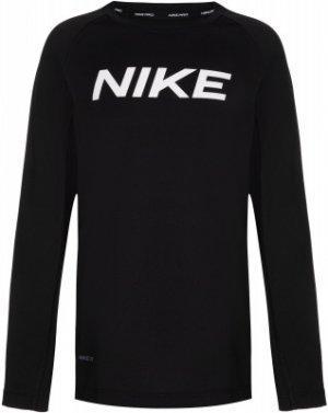 Лонгслив для мальчиков Pro, размер 147-158 Nike. Цвет: черный