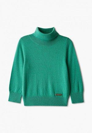 Водолазка Norveg Cash Touch. Цвет: зеленый