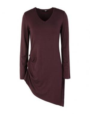 Короткое платье B.YU. Цвет: баклажанный