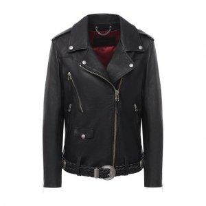 Кожаная куртка Golden Goose Deluxe Brand. Цвет: чёрный