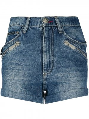 Джинсовые шорты с карманами Philipp Plein. Цвет: синий