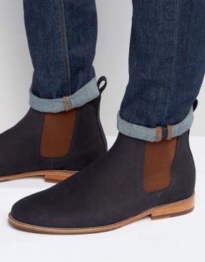 Замшевые ботинки Le Marabout Bobbies. Цвет: темно-синий