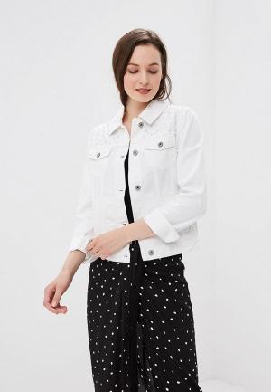 Куртка джинсовая Zarina. Цвет: белый