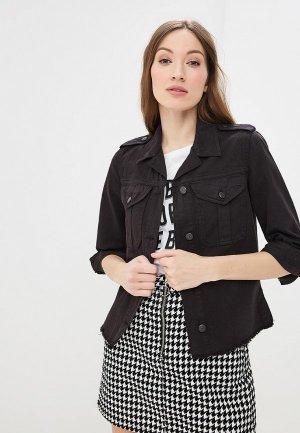 Куртка джинсовая Sisley. Цвет: черный