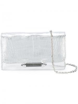 Мини сумка на плечо Sloane Judith Leiber Couture. Цвет: металлический