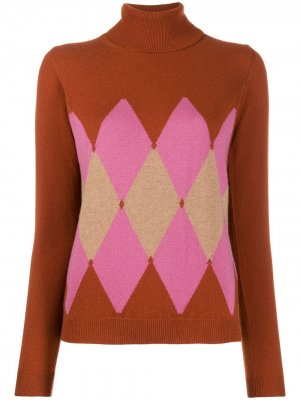 Argyle knit jumper Ballantyne. Цвет: коричневый
