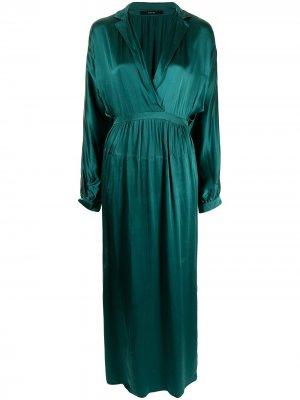 Длинное платье-рубашка Gucci Pre-Owned. Цвет: зеленый