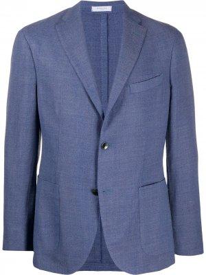 Пиджак Herringbone K-Jacket Boglioli. Цвет: синий
