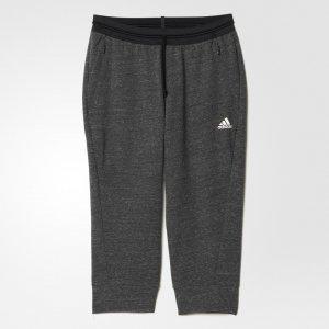 Укороченные брюки Cotton Fleece Athletics adidas. Цвет: черный