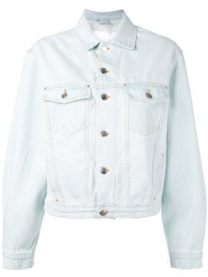 Джинсовая куртка с рваной отделкой Iro. Цвет: синий