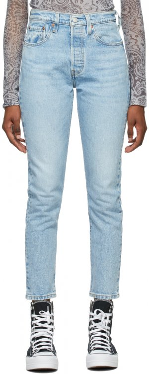 Levis Blue Denim 501 Skinny Jeans Levi's. Цвет: tango light