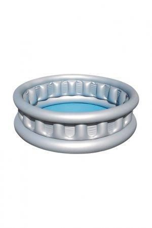 Надувной бассейн BestWay. Цвет: серебристый