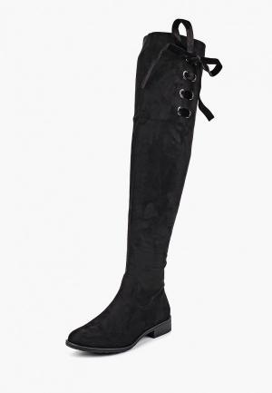 Ботфорты Ideal Shoes. Цвет: черный