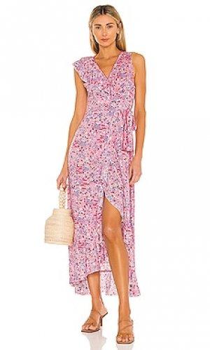 Макси платье gwen Poupette St Barth. Цвет: розовый