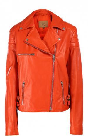 Кожаная куртка MCQ. Цвет: красный