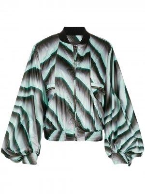 Куртка-бомбер оверсайз Just Cavalli. Цвет: зеленый