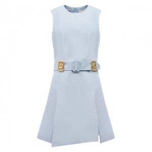 Шерстяное платье Lanvin. Цвет: синий