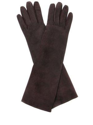 Перчатки замшевые удлинённые SERMONETA GLOVES