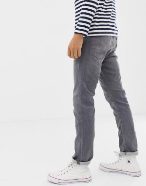 Узкие джинсы Originals Jack & Jones. Цвет: серый