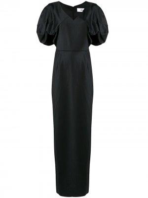 Платье с драпировками Chalayan. Цвет: черный