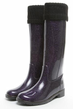 Сапоги Lalu. Цвет: фиолетовый