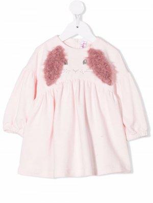 Erica rabbit-motif dress Il Gufo. Цвет: розовый