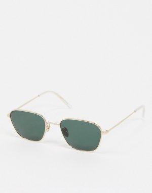Золотистые солнцезащитные очки Monokel-Золотой Monokel Eyewear