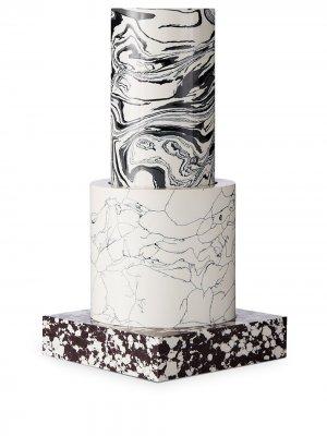 Маленькая ваза Swirl Tom Dixon. Цвет: черный
