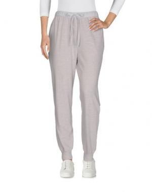 Повседневные брюки CLU. Цвет: светло-серый