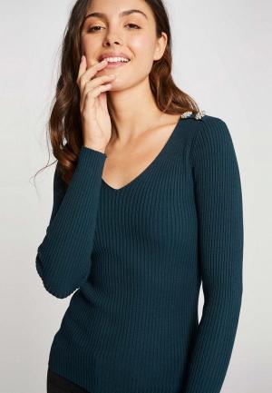 Пуловер Morgan. Цвет: бирюзовый