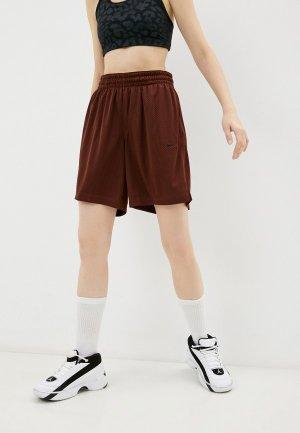 Шорты спортивные Nike W NK DF ESSENTIAL FLY SHORT. Цвет: коричневый