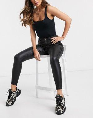 Черные джинсы с покрытием -Черный Lipsy